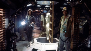 Dark and cramped: Alien helped give a more realistic sci-fi view