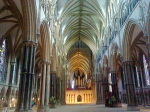 The interior of Lincoln Cathedral