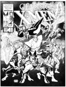 The original X-Men stories were reprinted from 1986 onwards: my best homework!