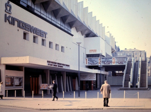 The Odeon Cinema: A Temple For Infants. Photo taken in 1973. (Note the escalator.)