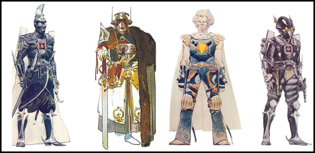 Character designs for Jodorowsky's Dune, created by French artist: Moebius.