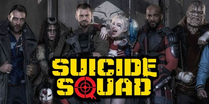 IN SQUAD WE TRUST?: A bunch of cool cats. And Will Smith. Hey! Who's that reptilian dude on the right? Possibly my fave Squad member already...
